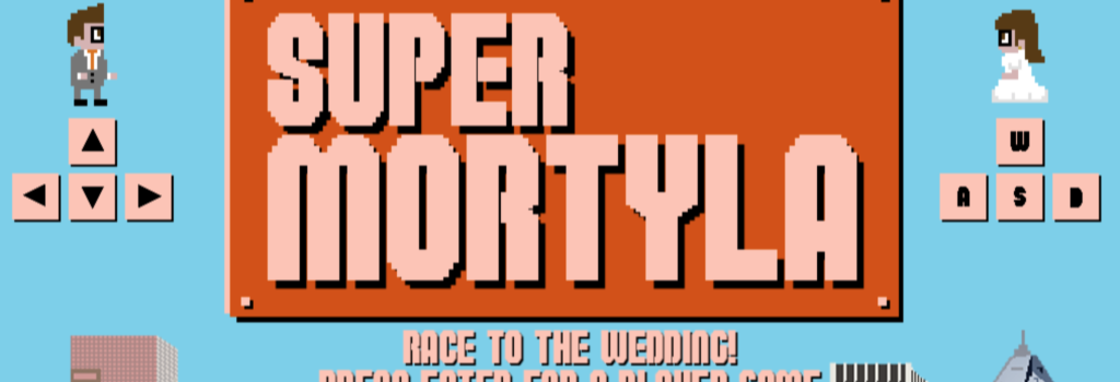 The title screen of Super Mortyla